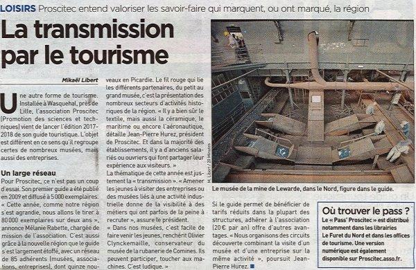 Aujourd'hui c'est Proscitec (dont font partie Tracteurs en Weppes et le musée de la rubanerie de Comines Warneton en Belgique) qui a les honneurs de la presse