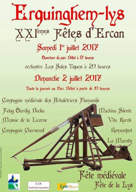 21èmes Fêtes d'Ercan à Erquinghem-Lys ce week-end