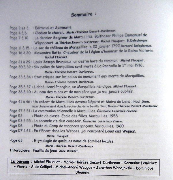 Le bulletin historique n° 17 du Cercle historique de Marquillies est paru !