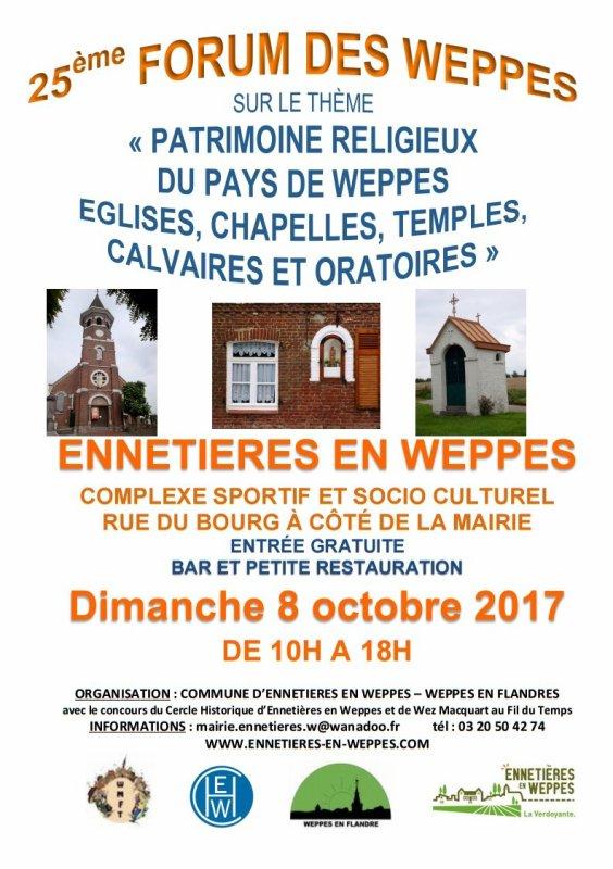 Dimanche 8 octobre : 25ème Forum des Weppes au complexe sportif et culturel d'Ennetières-en-Weppes