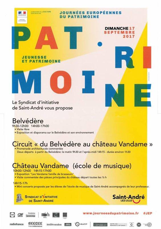 Journées européennes du Patrimoine, dernières annonces avec Niepkerke et le syndicat d'initiative de Saint-André