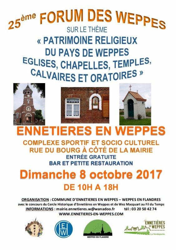 Dimanche 8 octobre 2017 : Forum des Weppes à Ennetières-en-Weppes