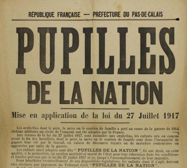 Il y a cent ans, les pupilles de la Nation