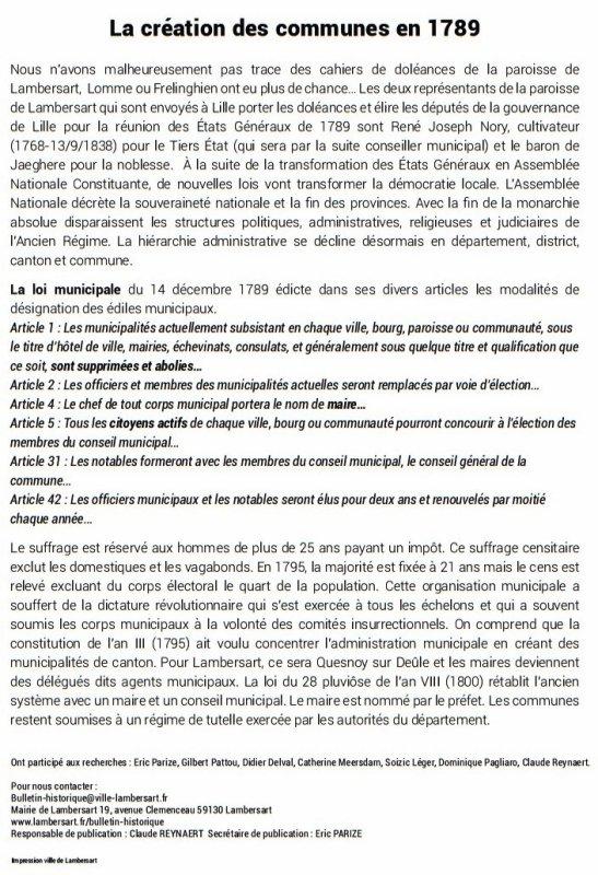 Bulletin historique de Lambersart n° 2