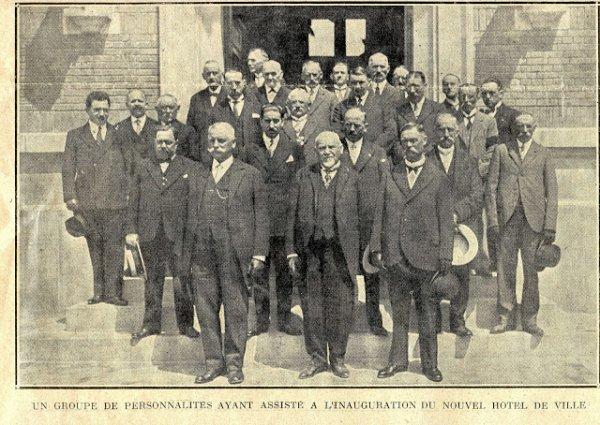 L'inauguration de l'hôtel de ville de Pérenchies
