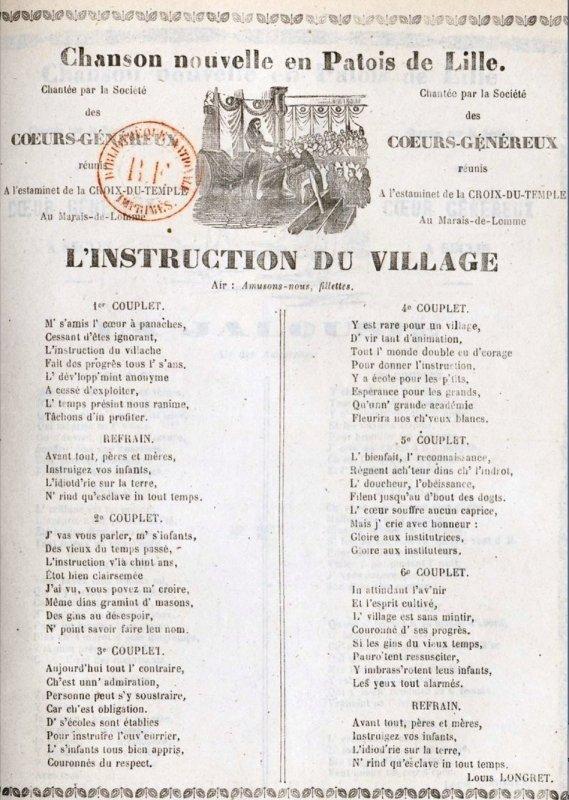 L'instruction au village