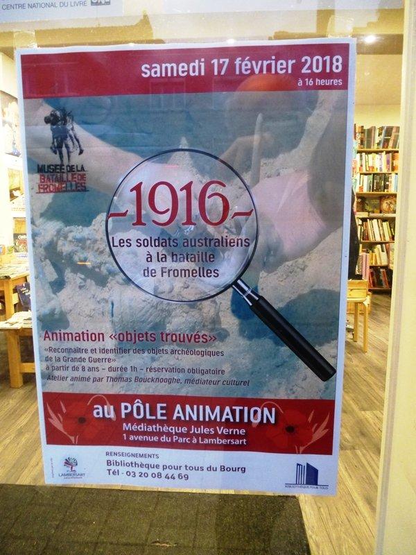 Ce samedi 17 février, la médiathèque de Lambersart vous propose de revenir sur l'histoire des Australiens à Fromelles pendant la Première Guerre mondiale.