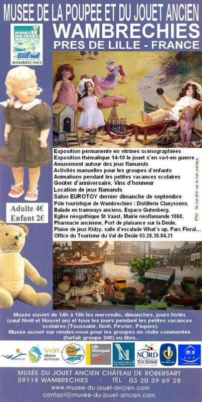 Des nouvelles du Musée de la Poupée et du Jouet ancien de Wambrechies