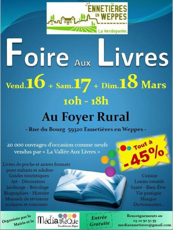Foire aux livres à Ennetières-en-Weppes