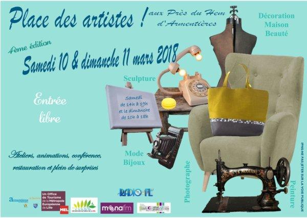 Ce week-end, place aux artistes à Armentières