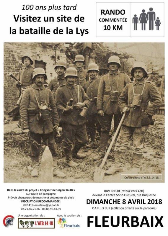 Visitez le site de la bataille de la Lys en 1918