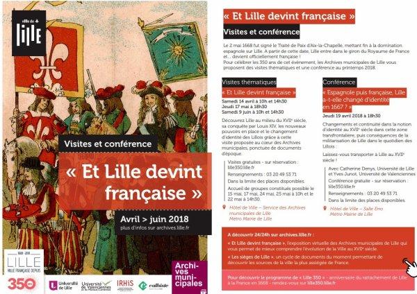 Il y a 350 ans, Lille redevenait française