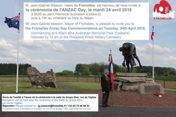 Mardi 24 avril : ANZAC Day à Fromelles