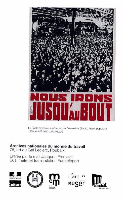 Mai 68 aux Archives nationales du Monde du Travail à Roubaix