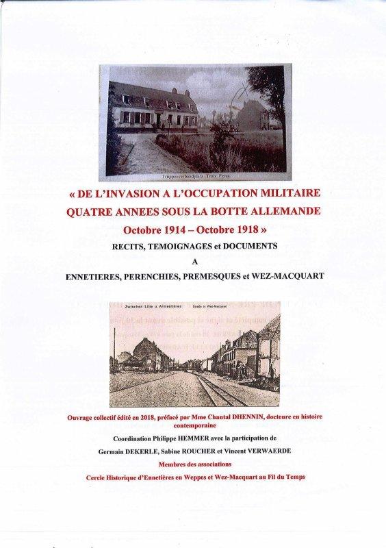 D'octobre 1914 à octobre 1918