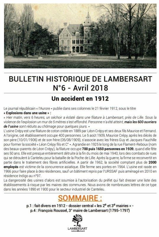 Le Bulletin historique de Lambersart n° 6