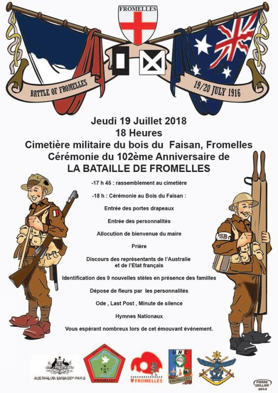 102ème anniversaire de la bataille de Fromelles