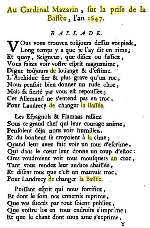 Au milieu du XVIIème siècle, La Fontaine ne fabulait pas sur La Bassée
