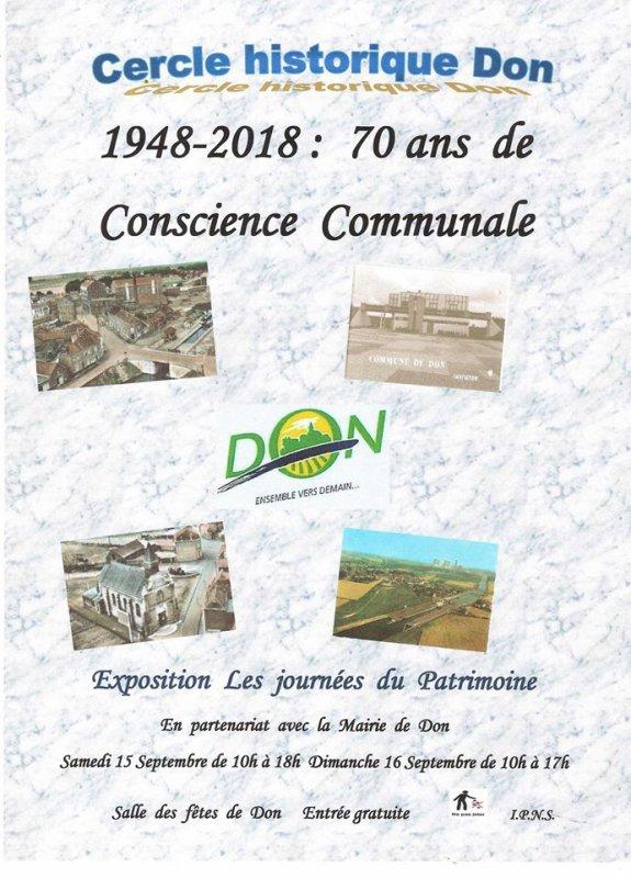 Les Journées européennes du patrimoine 2018 à Don : naissance d'une commune !