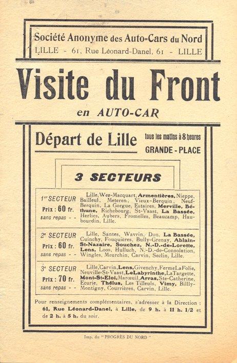 Le tourisme de mémoire dans le pays de Weppes après la Première Guerre mondiale