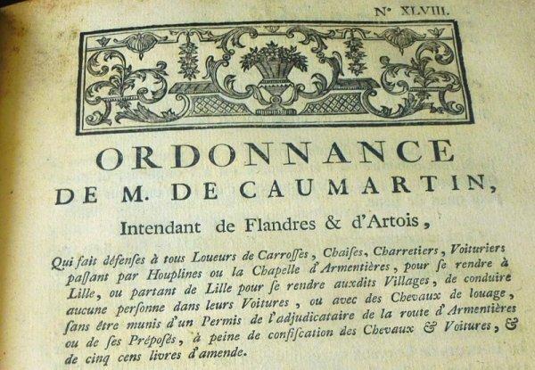 Voyager de Lille à Armentières sous l'Ancien Régime