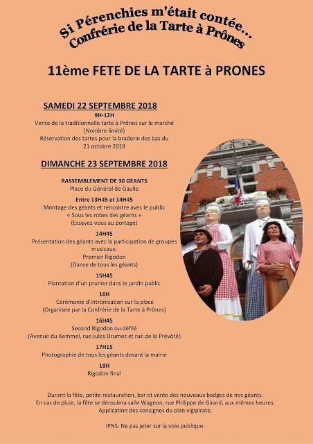 Ce dimanche 23 septembre, c'est la fête de la tarte à prônes à Pérenchies