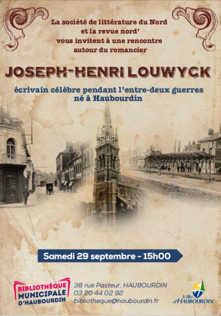 Joseph Henri Louwick, un écrivain né à Haubourdin