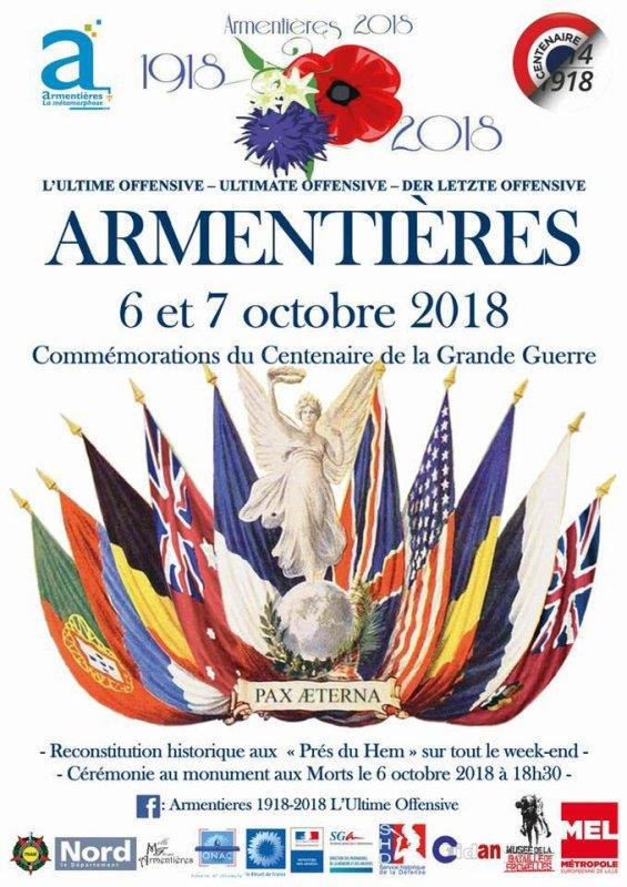 Ce week-end, c'est l'ultime offensive de la Grande Guerre à Armentières !