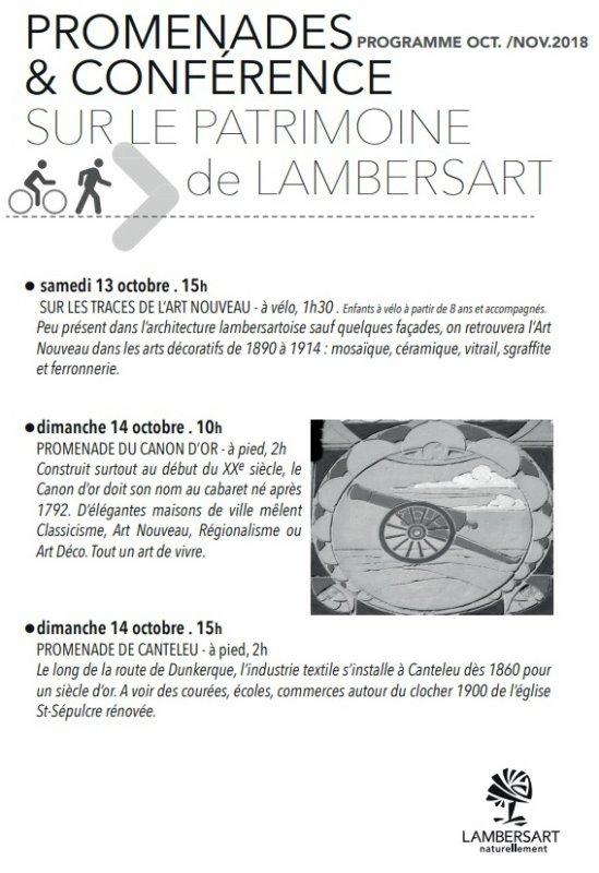 Cet automne, redécouvrez le patrimoine de Lambersart
