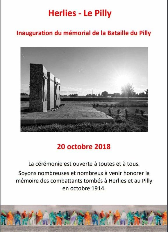 Samedi, à Herlies, inauguration de la stèle du souvenir de la bataille du Pilly en octobre 1914