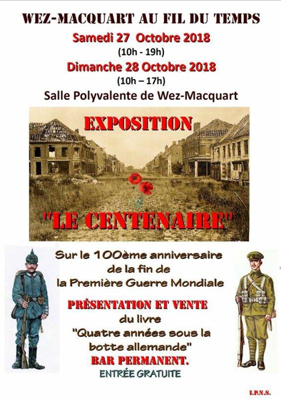 Centième anniversaire de la fin de la Première Guerre mondiale à Wez-Macquart