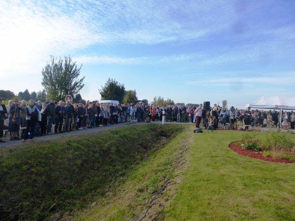 Inauguration de la stèle commémorative de la bataille du Pilly, à Herlies (part one)
