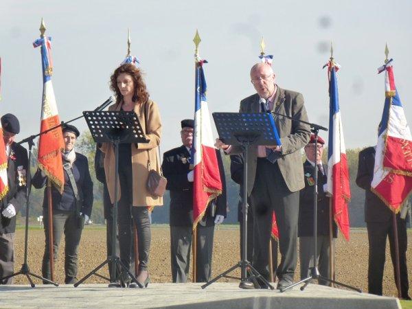 Inauguration de la stèle commémorative de la bataille du Pilly à Herlies (part two)