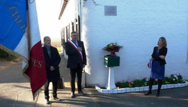Samedi dernier a été inaugurée à Ennetières-en-Weppes une plaque en souvenir des 18 personnes d'une même famille tuée dans un bombardement en octobre 1914 (reportage Alain-Pierre Loyez)