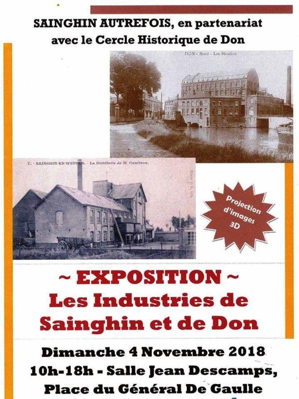 A Sainghin-en-Weppes et à Don, avant le 11 novembre, il y aura le 4 novembre !