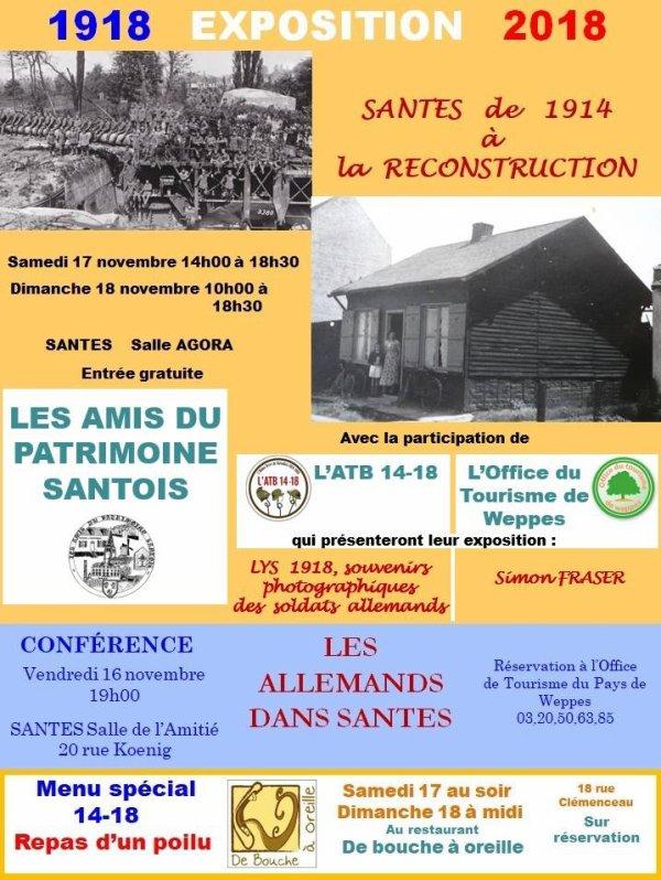 1918-2018 : Les Amis du Patrimoine santois commémorent la fin de la Première Guerre mondiale le week-end prochain