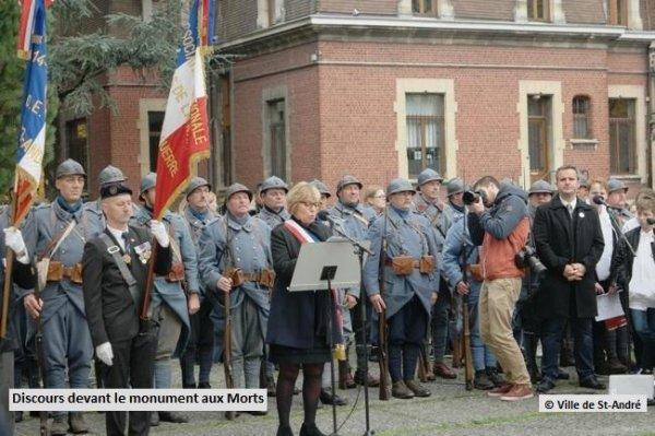 1918-2018 : Saint-André a commémoré le centenaire de la fin de la Première Guerre mondiale