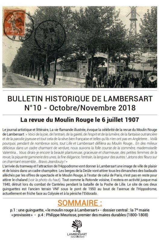 Bulletin historique de Lambersart n° 10