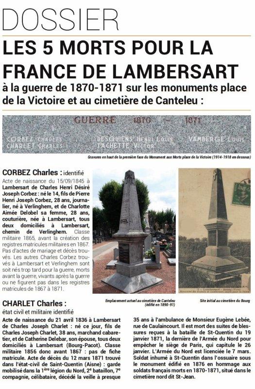 Le Bulletin historique de Lambersart : hors-série n° 1