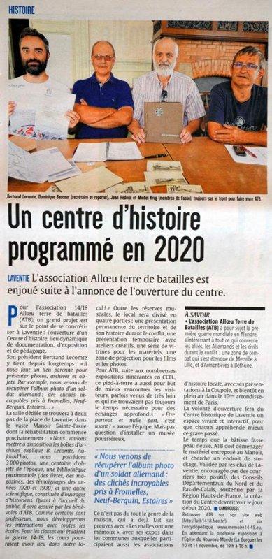 Un centre d'histoire programmé à Laventie pour 2020