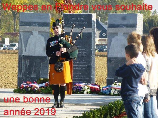 Weppes en Flandre vous présente ses meilleurs voeux pour l'année 2019