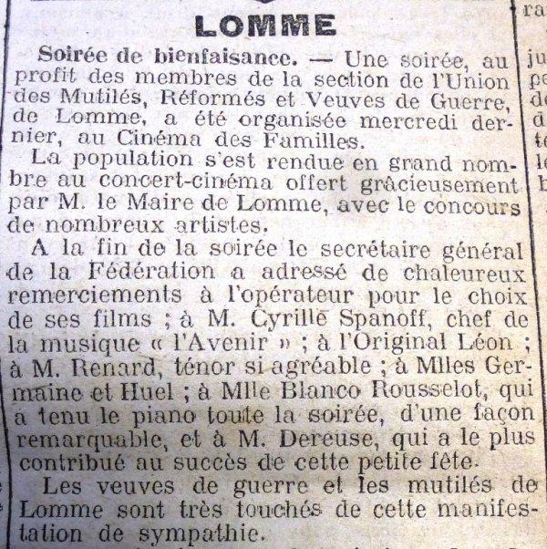 Après la Première Guerre mondiale, la solidarité s'organise à Lomme