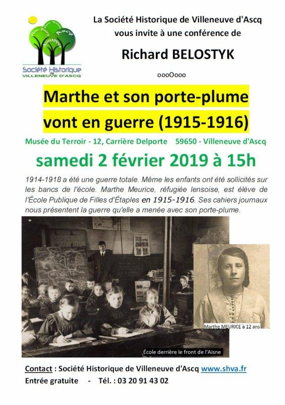 Marthe et son porte-plume s'en vont en guerre (1915-1916)
