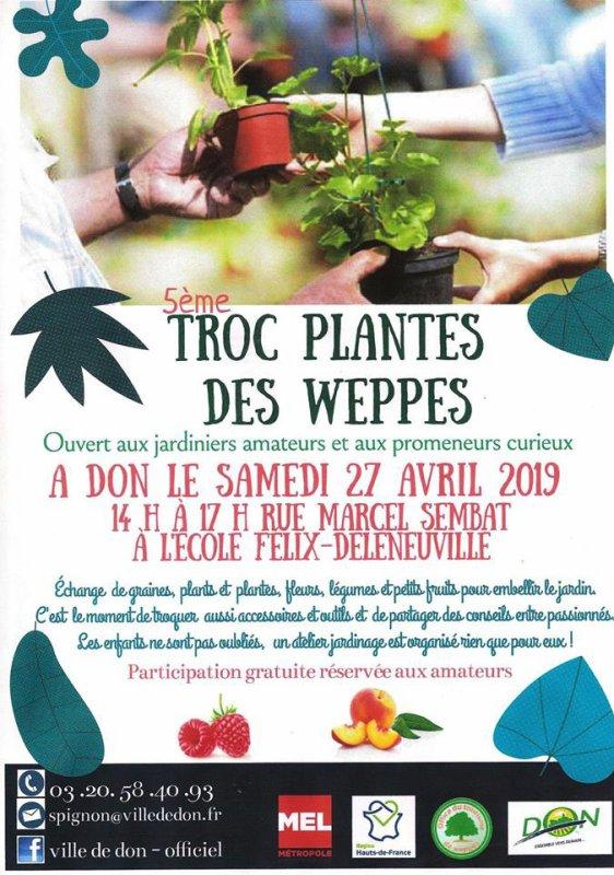 Troc plantes des Weppes, c'est à Don ce samedi 27 avril !