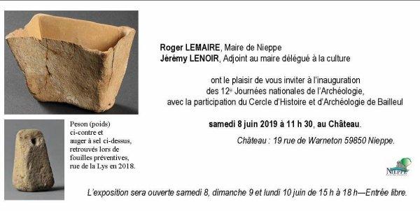 Les Journées nationales de l'Archéologie à Nieppe