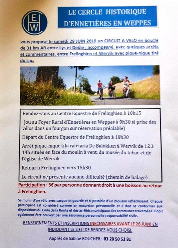 Entre Lys et Deûle à bicyclette avec le Cercle historique d'Ennetières-en-Weppes