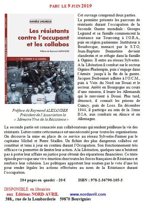 Un nouvel ouvrage de notre amie Danièle Lheureux sur la Résistance pendant la Seconde Guerre mondiale