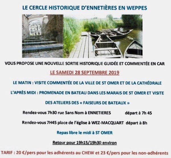 Le Cercle historique d'Ennetières-en-Weppes vous emmène en voyage à Saint-Omer dans le Pas-de-Calais