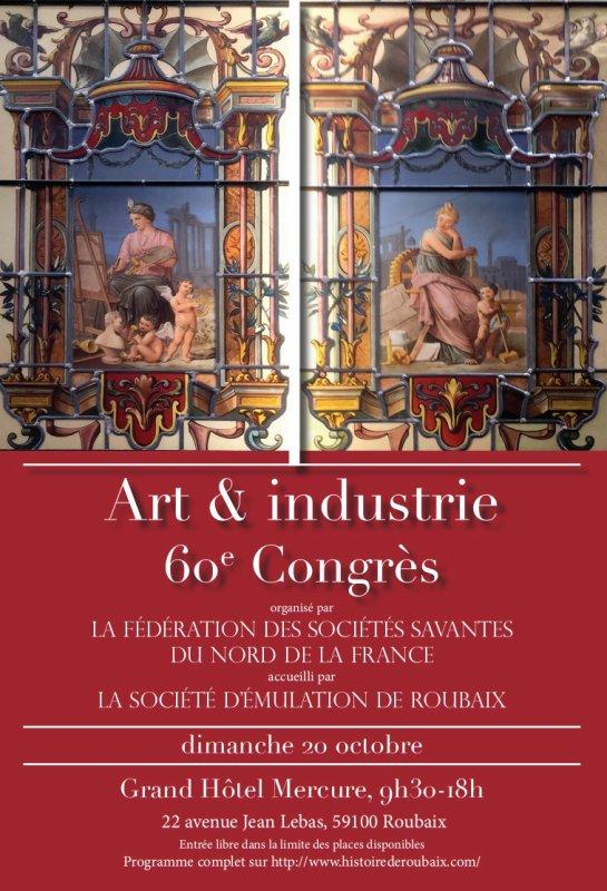 Art et industrie au programme du congrès de la Fédération des sociétés savantes du Nord de la France à Roubaix le dimanche 20 octobre