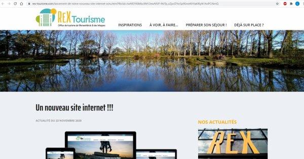 Le site internet de l'office de tourisme du pays de Weppes et de l'Armentiérois est accessible